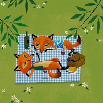 Fox picnic