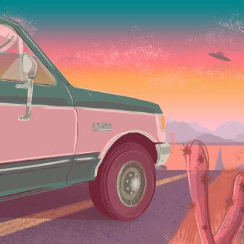 Truck Sunset ufo