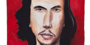 CA Award Winner Dan Bransfield and his portrait of Adam Driver!