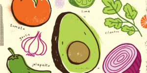 Making a Salad illustrated by Michael Korfhage