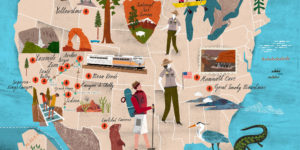 National Parks Map by Martin Haake