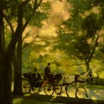 Vince McIndoe painting Carriage-Central Park-NewYorkCity