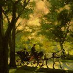 Vince McIndoe painting Carriage-Central Park-NewYorkCity