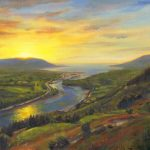 Vince McIndoe painting Irish landscape